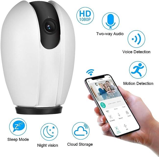 Cámara de Seguridad inalámbrica para el hogar cámara de vigilancia Smart WiFi 1080P HD Mini cámara IP de Interior Sistema de monitoreo Servicio en la Nube Disponible