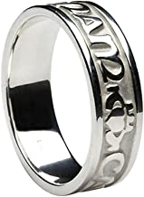 Claddagh Silver Ring for Women Irish Band Mo Anam Cara Soulmate Made in Ireland