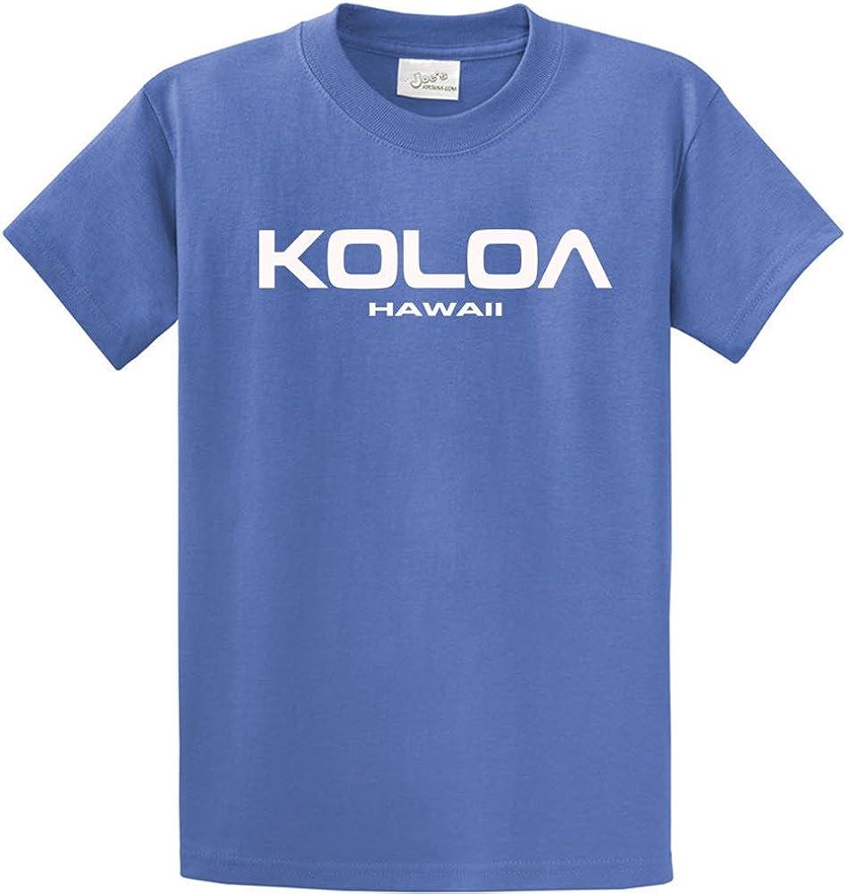 Joe's USA Koloa/Hawaii Text Logo T-Shirts in Size 2X-Large Tall -2XLT Ultramarine Blue