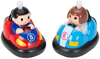 Bits and Pieces - Wind-Up Battling Bumper Cars - Wind Up Toy Classroom Children's Party,, Goodie Bag, Child and Birthday Toys