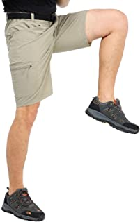 MIER Men's Stretchy Hiking Shorts Quick Dry Nylon Cargo Shorts with 5 Pockets, Water Resistant, Lightweight