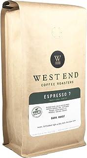 West End Coffee Roasters, Organic Espresso 7, Dark Roast, Whole Bean (14oz)
