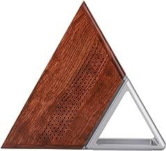ASHATA Mini Triangle Computer Portable Host Mini PC Bluetooth4.0 WiFi Computer for Intel N3450 Quad-Core 8GB + 192GB for Windows 10 100-240V (Wood + Silver)(US)