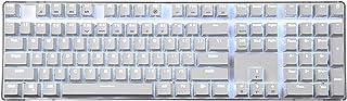 Qisan ゲームメカニカル式キーボード Cherry MX茶軸108キー 白いバックライトモード付き 白いプレート Magicforce