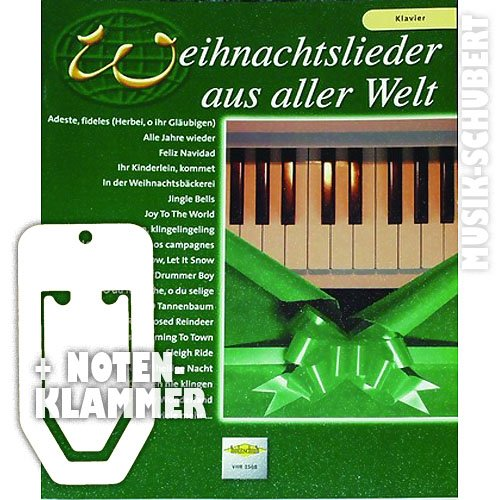 Kerstliedjes uit de hele wereld voor piano incl. praktische muziekklem - 29 populaire kerstliedjes van STILLE NACHT tot WINTER WONDERLAND in lichte tot middelzware arrangementen (geblokkeerd) van Uwe Sieblitz (noten/heetmusic)