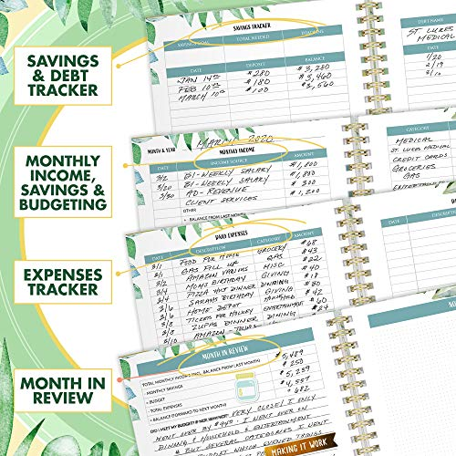Product Image 6: Simplified Monthly Budget Planner – Easy Use 12 Month Financial Organizer with Expense Tracker Notebook – The 2021 Monthly Money Budgeting Book That Manages Your Finances Effectively
