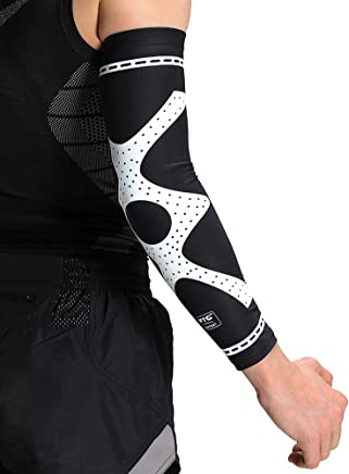 edb4bd265a VTG Compression Arm Sleeve Sports Brace Support for Running Basketball  Cycling Golf Tennis Crossfit Fitness Lycra