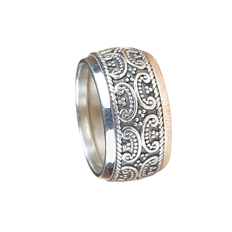 Silver Ring 92.5 Fashion Sterling R Thumb Meditation Super sale