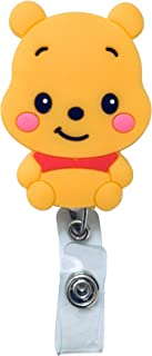 Swivels - Cartoon Retractable Badge Reel - Holder for ID and Name Tag with Alligator Clip (Winnie The Pooh)