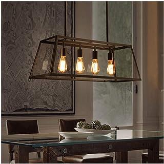 KOSILUM - Grande suspension serre à semis 4 lumières - Fresy - EN SOLDES ! - Lumière Blanc Chaud Eclairage Salon Chambre C...