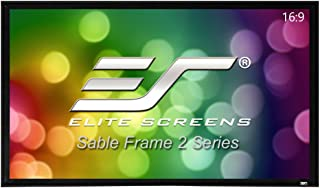 Elite Fixed Frame 16:9 Sable Frame Projector Screen, 6cm Black Velvet Border, 106-Inch