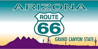 Signs 4 Fun STSR03 Route 66 AZ Plate - Modern Sticker, Blue
