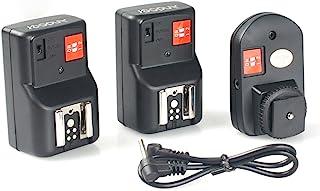 Andoer® PT-04GY Disparador de Flash Flash Trigger Universal 4 Canales Control Remoto de Radio inalámbrica Speedlite 1 transmisor y 2 Receptores para Canon Nikon Pentax Olympus, etc (4 Canales)