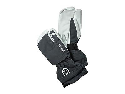 Hestra Army Leather Heli Ski 3-Finger (Grey) Ski Gloves