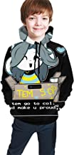 Cai Jingg Ideo Game Undertale Temmie Fit Teen Hooded Sweater Black