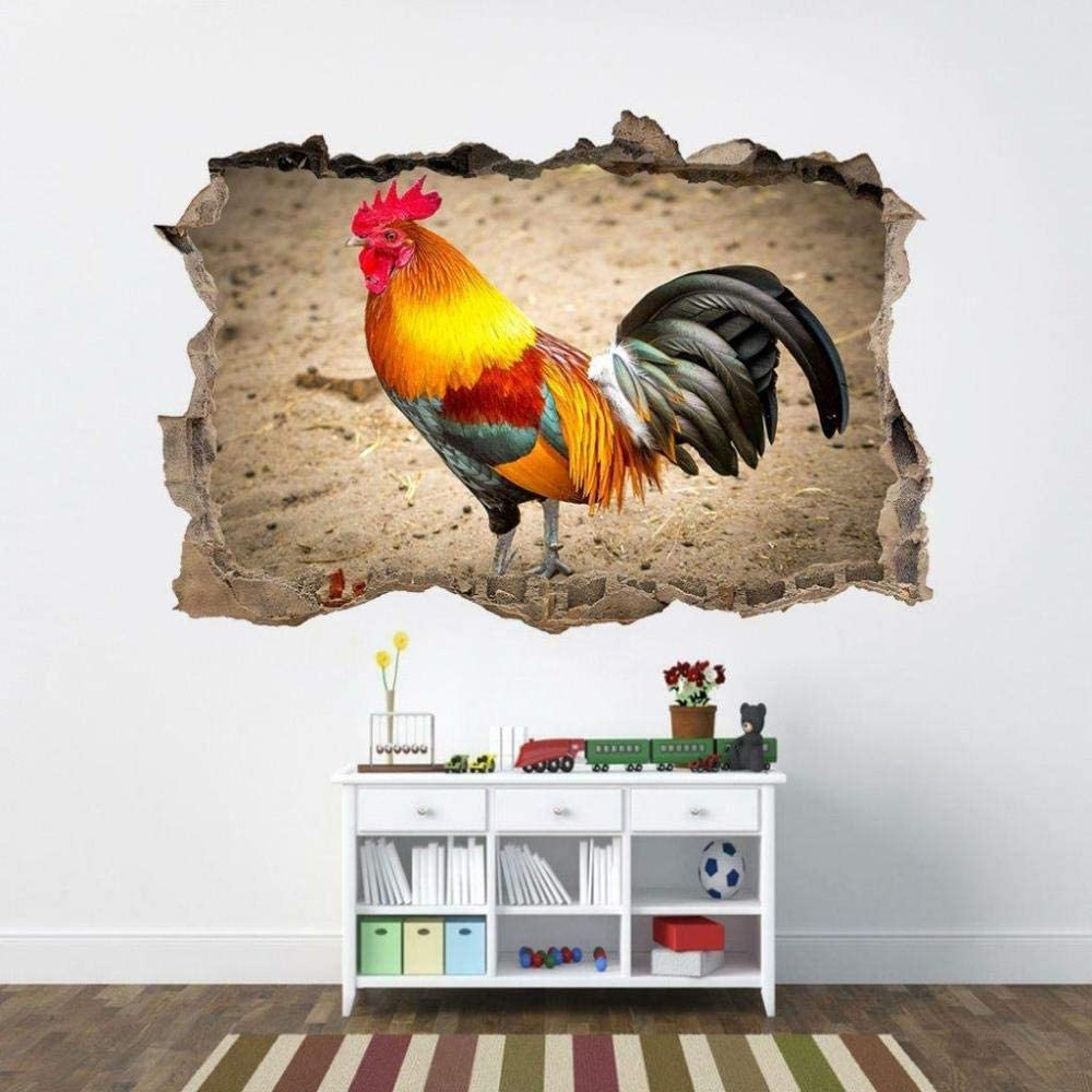 New products world's highest quality popular SYYUN Wall Sticker Rooster 3D Smashing Max 79% OFF
