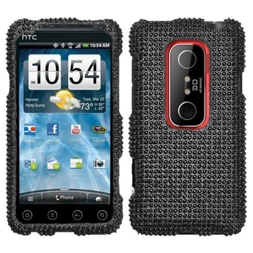 Asmyna HTCEVO3DHPCDMS003NP Schutzhülle für HTC Evo 3D, Schwarz