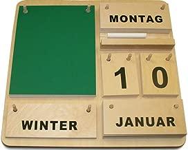 Guajave Vintage Ewiger Schreibtisch Kalender Block Planer Permanent Desktop Organizer DIY Rose