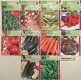 Lot 20 paquets graines légumes, courgette, épinard, concombre, tomate, carotte, radis, persil, pas cher