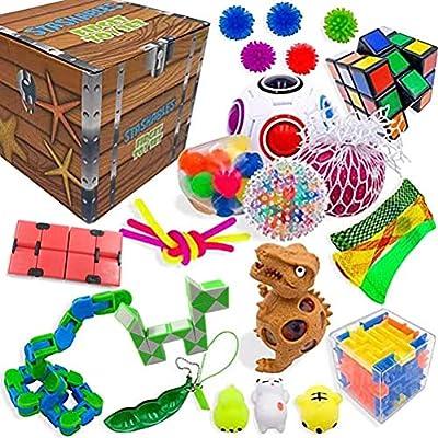 Kit de herramientas para aliviar el estrés y antiansiedad para niños y adultos, sensoriales Fidget Toys Set Bundle Sensory Toys Set Sensory Therapy Juguetes para TDAH, Autismo, estrés y ansiedad de NIVNI