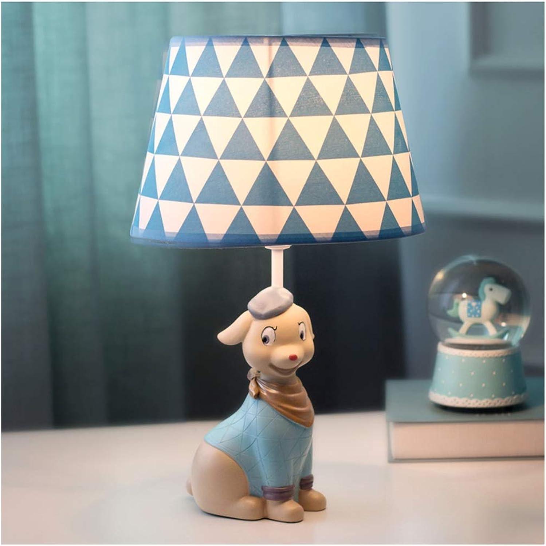 CJW Welpenschlafzimmertischlampe, Kinderzimmernachttischlampe, nettes Tierprinzessinmädchen (Farbe   Blau) B07Q2PQS8M   Moderate Kosten