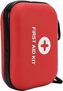 Fostoy Mini Kit de Primeros Auxilios, 120pcs Bolsa de Primeros Auxilios Impermeable Conjunto de Primeros Auxilios Compacto para Exteriores con Contenido para el Hogar, Camping, Viajes