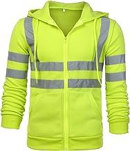 Hoge zichtbaarheid reflecterend veiligheidsvest heren jas overalls, hoge zichtbaarheid capuchon jas voor reizen outdoor re...