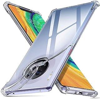 Huawei Mate 30 Pro Case, Ikwcase Reinforced Corners TPU Cushion Bumper Shockproof Transparent Case Cover for Huawei Mate 3...