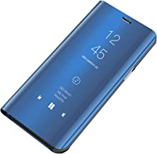 Tybiky Kompatibel med Huawei P30 Pro läderfodral, mobiltelefon fodral spegel skyddande flip fodral stötsäker ställ funktio...