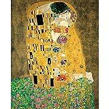Pintura Digital,Klimt'El Beso' Famosa Pintura Al Óleo Cuadros Pintados A Mano Pintura Por Números Decoración Del Hogar Diy Pintura Al Óleo Digital Sobre Lienzo 40x50cm