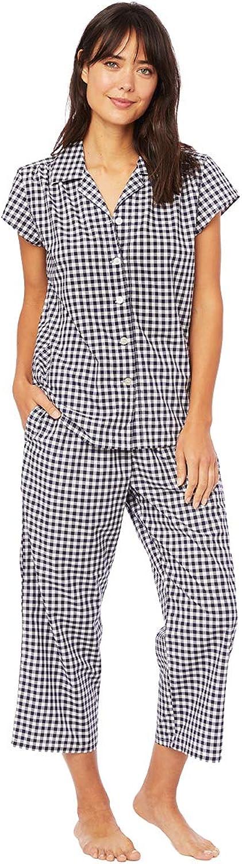 The Cat's Pajamas Gingham Luxe Pima Cotton Capri