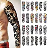 Temporary Tattoos Stickers - Crown Lion Wolf Rose Skull Owl Waterproof Temporary Tattoo Paper,Fake Body Art Full Arm Removable Realistic Tattoo For Adults Men Women Tattoos Sleeve,B,10 Sheets199