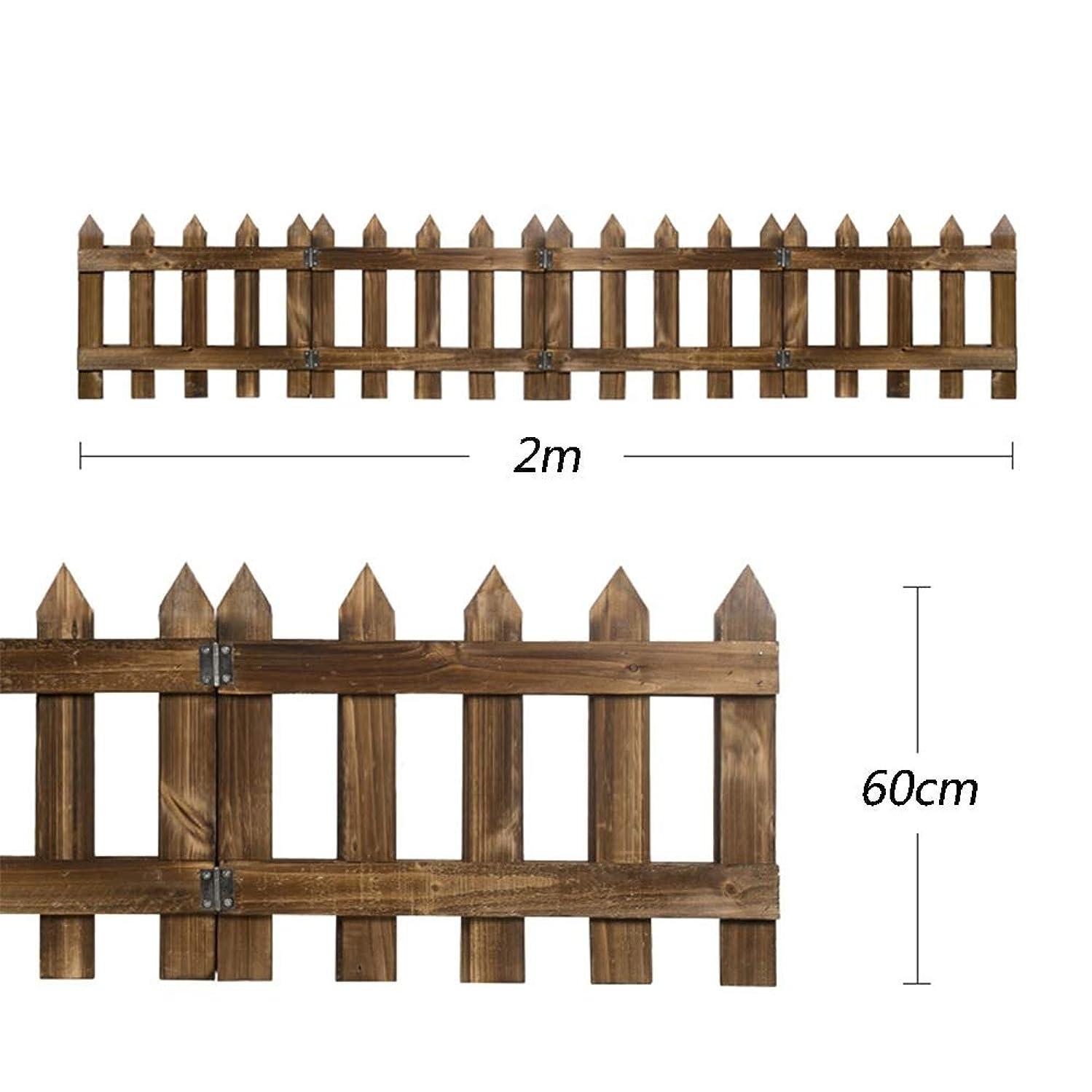 徴収タイプマラウイJIANFEI 木製 ボーダーフェンス デコレーション 庭のバリア 炭化 耐食性 配布3三脚 、12サイズ (色 : ブラス ぶらす, サイズ さいず : B-200x60cm)