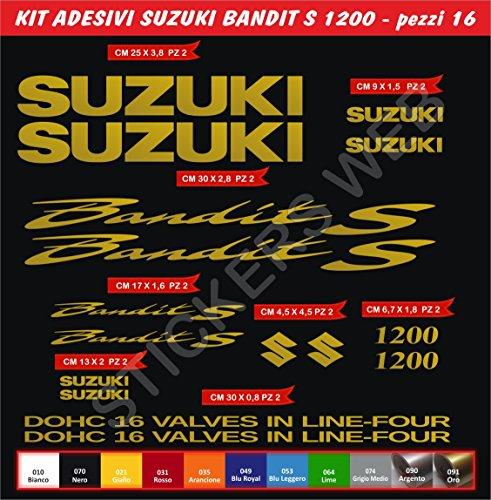 Aufkleber Aufkleber Suzuki Bandit S1200s-1200Kit 16Teile?wählen colore- Moto Motorrad Cod. 0080 - Oro cod. 091