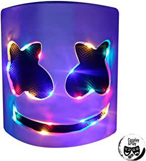 Cosplay&Play - DJ Mask- Costume Latex Mask Helmet for Halloween Cosplay Game Party … (LED)