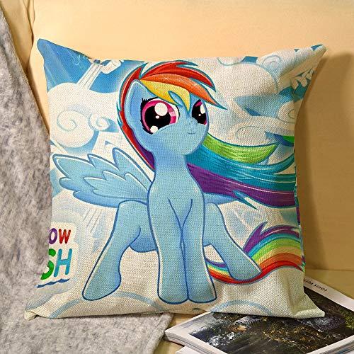 My Little Pony - Funda de cojín de lino sintético para sofá de 45,7 x 45,7 cm, sin relleno de almohada