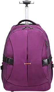 YUMILI Travel Trolley Luggage Suitcase PU Oxford Cloth Unisex Small Suitcase (Color : Purple)