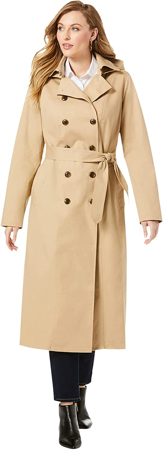 Jessica London Women's Plus Size Coa Trench Breasted Double Max 56% New product! New type OFF Long