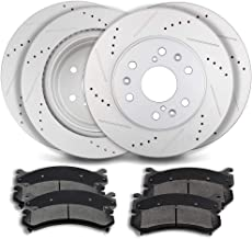 Brake kits,ECCPP Front Rear Discs Brake Rotors and Ceramic Disc Brake Pads fit for Cadillac Escalade,for Chevrolet Silvera...