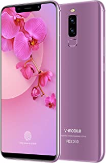 "Unlocked Cell Phones, 4G Unlocked Smartphone, 5.85"" Waterdrop Full-Screen Phones, with 32GB Android 8.1 OS, 4200mAh, Dual SIM +Micro-SD Slot, Face Unlock, US Version (Purple)"