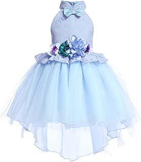 AIMJCHLD 2-10T Kids Hi-Lo Party Formal Dresses Princess Girls Gorgeous Flower Girl Dress
