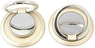 2 unidades de soporte de anillo dorado ultrafino para teléfono celular, soporte de dedo, rotación de 360 grados, soporte d...
