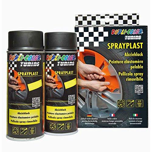 Dupli Color 388118 DC Sprayplast-Set, Schwarz Seidenglanz, 2 x 400 ml