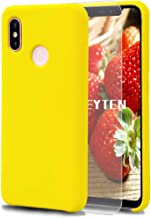 Fatcatparadise Xiaomi Mi 8 Case [with Free Tempered Screen Protector], Liquid Silicone Gel Rubber Soft Touch Cover Full Pr...
