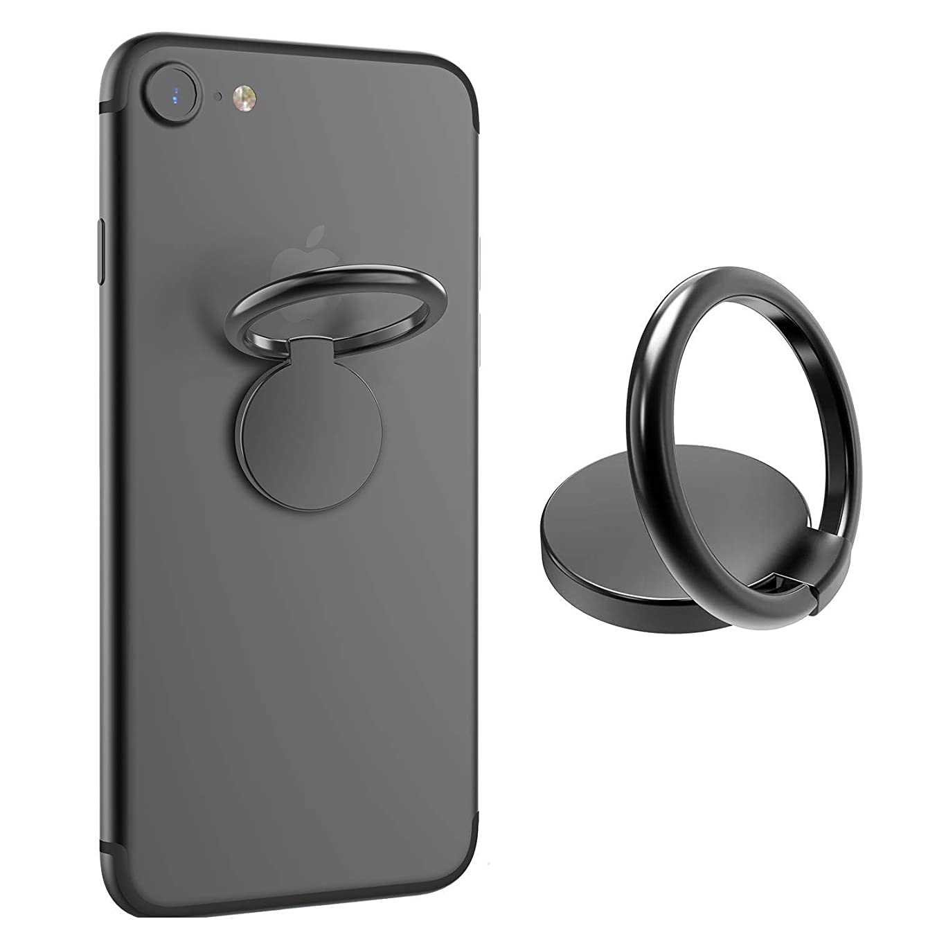ICHECKEY Smart Phone Ring Holder 360 Adjustable Ring Stand Grip Mount Kickstand for iPhone X/8/7/7 Plus, Galaxy S8/S8 Plus and Almost All Cases/Phones (Gunmetal)