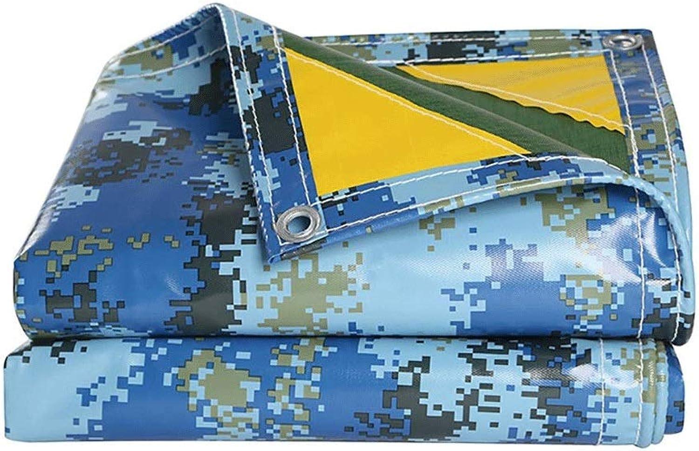 Liyangbai Plane,Abdeckplanen Wasserdicht Blau Tarnen Draussen Leicht Segeltuch Camping Zeltplane mit sen (gre   5  5m)