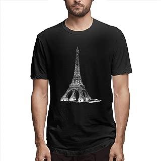 Zoomu Iron TowerMen's Short Sleeve Standard T-Shirt Slim-fit Short-Sleeve Slub Henley T-Shirt