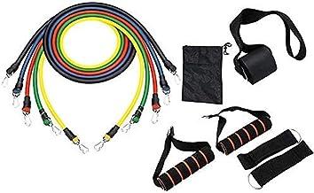 XWXBB Kanpola Fitnessbanden, set van 2 weerstandsbanden, latex fitnessband met handgreep, deuranker, 100% natuurlatex weer...