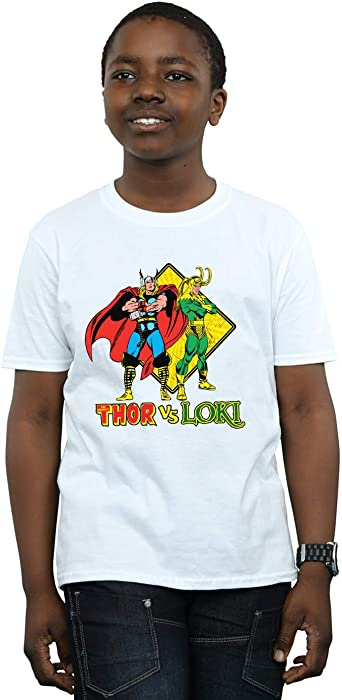 Marvel Niños Thor Vs Loki Camiseta: Amazon.es: Ropa