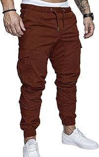 4752d9d657 SOMTHRON Homme Ceinture élastique à long coton Jogging pantalons de  survêtement Plus la taille Mode Sport